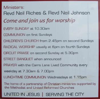 Worship at Carrs Lane